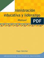 Administracion Educativa y Liderazgo Libro