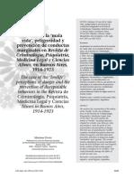 Dovio - El Caso de La Mala Vida_peligrosidad y Prevencion de Conductas Marginales en La Revista de Criminologia 1914 - 1923