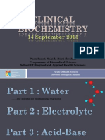 Water Electrolytes Part Clinical Biochemistry