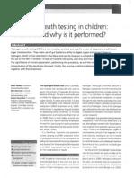 H2 Breath Testing in Children 07.06.09