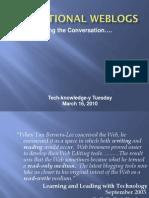 Tech Tuesday Weblogs PDF