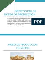 Características de modos de produccion