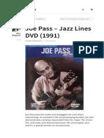 Joe Pass - Jazz Lines DVD Esquemavideo