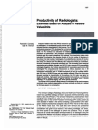 Productivity of Radiologist