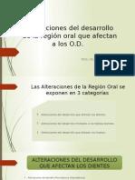 Alteraciones Del Desarrollo de La Región Oral