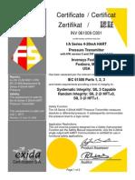 Certificado Exida