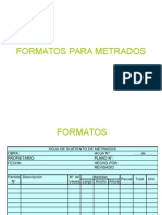 Formatos Para Metrados