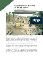 Explotación de Los Sistemas Acuíferos en El Perú