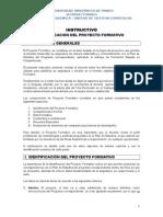 Instructivo Para El Diseño Del Pf