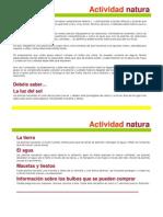 Actividad Natura
