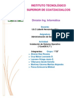 Documentación de Instalación de CentOS.