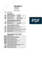 Parts Price List - splitters - 2015