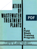 Operation of WWTP-1970