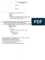 Revision Worksheet 1-Class 12