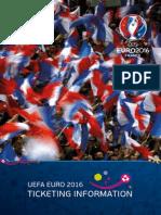"""Informacionet për biletat e """"Euro 2016"""""""
