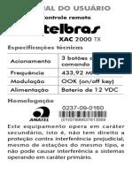 Manual Xac 2000 TX Site