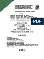 Syllabus Introd.clinica 2014 Oficial