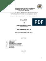 Sillabo Laboratorio Clinico 2015 UNMSM