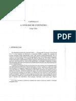 A Análise de Conteúdo - Jorge Vala