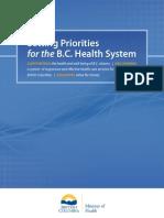 Setting Priorities BC Health Feb14