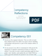 competency reflection ppt