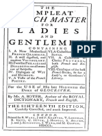 The Complete French Master for Ladies and Gentlemen - 1750