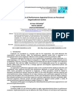 Analyzing the Effect of Performance Appraisal Errors on Perceived Organizational Justice