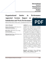 22-Organizational Justice in Performance Appraisal System Impact on Employees Satisfaction and Work Performance