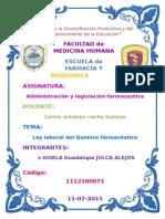 Ley Laboral Del Quimico Farmaceutico