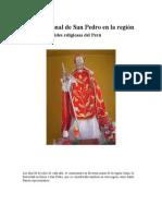 Fiesta Patronal de San Pedro en La Región Junín Efemérides Religiosas Del Perú