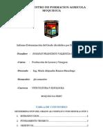 Informe de La Determinacion Del Grado Alcoholico Por Destilacion