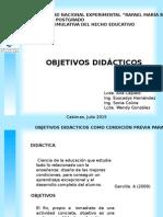 Los Objetivos Didacticos