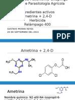 herbicida Relampago 400 ametrina + 2,4-D