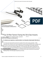 Top 20 Risk Factors Facing the Oil & Gas Industry _ Utilities _ Energy Digital