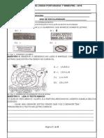 Avaliação Língua Portuguesa Com as 18 Capacidades Caderno Ceale Mg