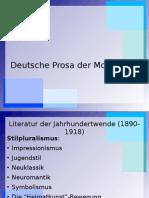 Deutsche Prosa der Moderne II.ppt