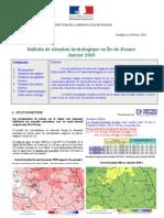 Bulletin de Situation Hydrologique en IDF_janvier2010