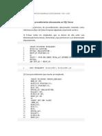 Ejercicios de procedimientos almacenados en SQL Server