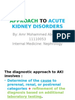 Approach to Acute Kidney Disorders