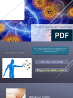 Tipos de Inmunidad y Barreras Contra Infecciones