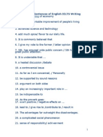 Top Template Sentences of English IELTS Writing