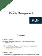 Quality Managment