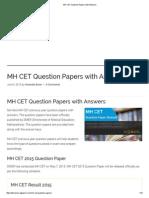 Papers cet mah pdf mba