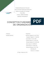 Conceptos Fundamentales de Organización