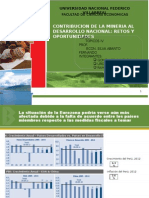 La Minería en El Perú Al 2015