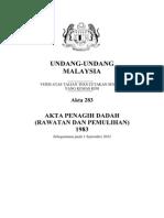 Akta 283 - Akta Penagih Dadah (Rawatan Dan Pemulihan) 1983