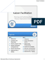 Kaizen Facilitator Training Slide Handout