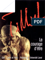 Oeuvres de Paul Tillich 6 Paul Tillich-Le courage d'être  -Le Cerf - Labor et Fides - Presses de l'Universite de Laval (1998)