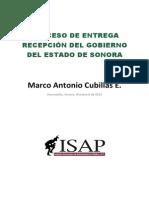 Proceso de Entrega Recepción en Sonora