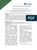 Análisis de Dureza Total Por Titulación Con Edta Disódico Sin Terminar.